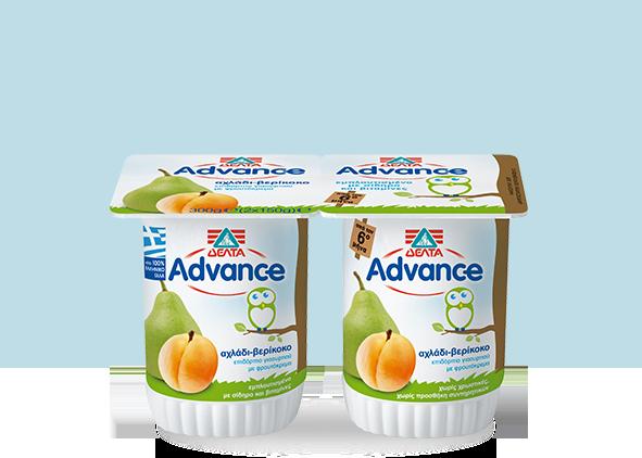 ΔΕΛΤΑ Advance Επιδόρπιο Γιαουρτιού – Αχλάδι – Βερίκοκο