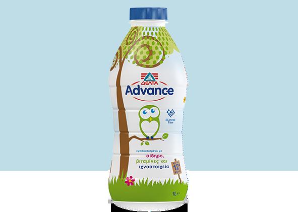 ΔΕΛΤΑ Advance Γάλα YΘΕ  1lt