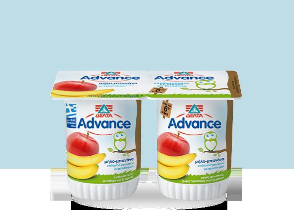 ΔΕΛΤΑ Advance Επιδόρπιο Γιαουρτιού – Μήλο – Μπανάνα