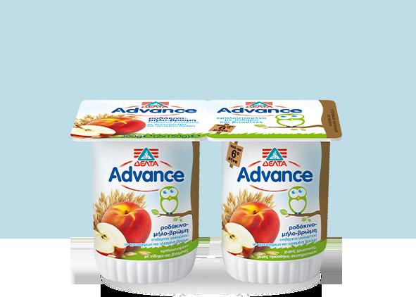 ΔΕΛΤΑ Advance Επιδόρπιο Γιαουρτιού – Ροδάκινο – Μήλο – Βρώμη
