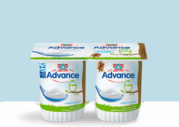 ΔΕΛΤΑ Advance Επιδόρπιο Γιαουρτιού – Λευκό