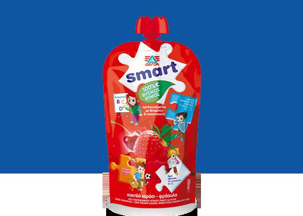 ΔΕΛΤΑ Smart  100%  Φυσικός χυμός κεράσι – φράουλα