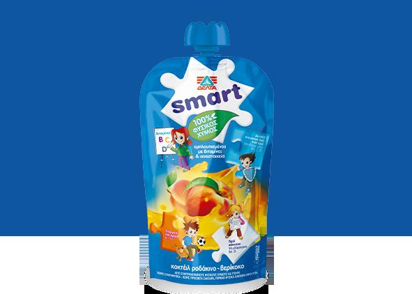 ΔΕΛΤΑ Smart  100% Φυσικός χυμός ροδάκινο – βερίκοκο